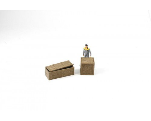 Aussie 3D 1:50 Shipping Crates - Wooden - Pack of 2
