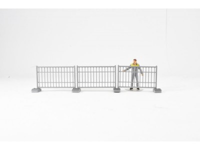 1:50 Scale Fencing - Temporary - 3 Sections with Bases