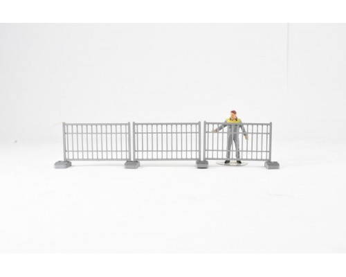 Aussie 3D 1:50 Fencing - Temporary - 3 Sections with Bases