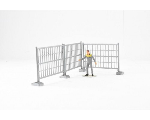 Aussie 3D 1:50 Fencing #2 - Temporary - 3 Sections with Bases