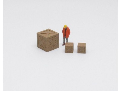 Aussie 3D 1:50 Shipping Crates - Wooden - Pack of 3