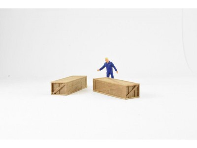 Aussie 3D 1:50 Shipping Crates - Large Wooden - Qty 2