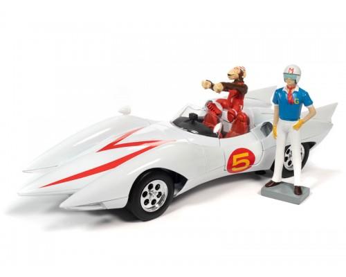 Auto World 1:18 Speed Racer Mach 5 with Speed Racer Figurines