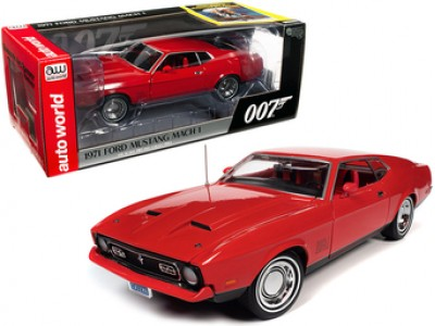 Auto World 1:18  James Bond 007 1971 Ford Mustang - Diamonds Are Forever