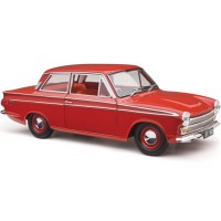 Classic Carlectables 1:18 Ford 1964 Cortina GT 500 - Red Satin with Red Interior