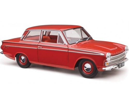 1:18 Scale Ford 1964 Cortina GT 500 - Red Satin with Red Interior