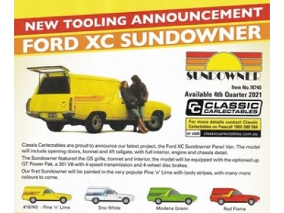 Classic Carlectables 1:18 Ford XC Sundowner Panel Van - Pine 'n' Lime