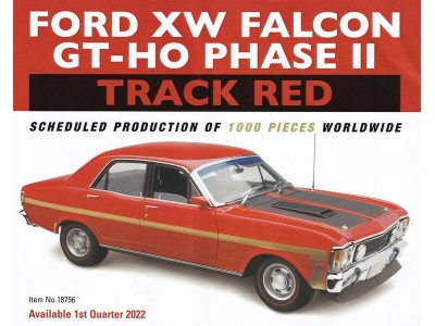 Classic Carlectables 1:18 Ford XW Falcon GT-HO Phase II - Track Red