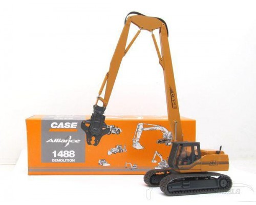 1:50 Scale Case 1488LC Excavator with Demolition Boom