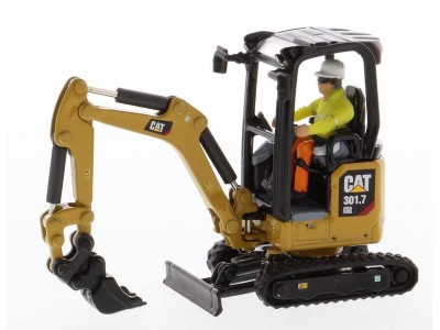 Diecast Masters 1:50 Caterpillar 301.7 CR Next Generation Mini Excavator