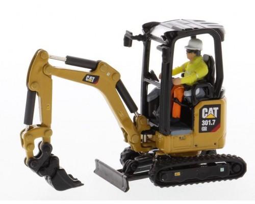 Diecast Masters 1:50 Caterpillar 301.7 CR Next Generation Mini Excavator