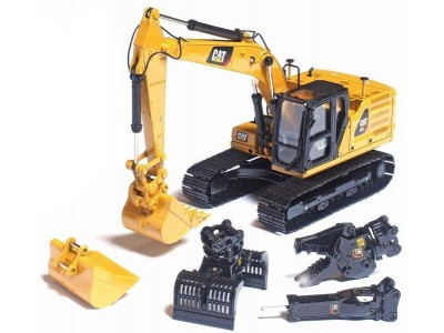 Diecast Masters 1:50 Caterpillar 323 Next Gen Excavator with Work Tools