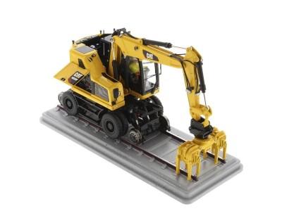 Diecast Masters 1:50 Caterpillar M323F Railroad Excavator - Safety Yellow