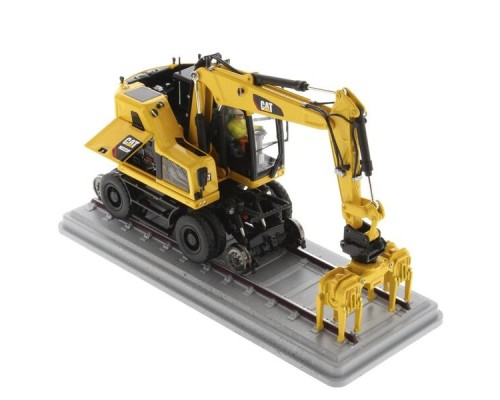 Diecast Masters 1:50 Caterpillar M323F Railroad Excavator - Safety Yellow
