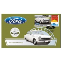 Ford Cortina MKI GT500 - 2017 50c Stamp and Coin Cover - PNC