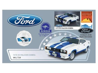 Australia Post Ford XC Falcon Cobra - 2017 50c Stamp and Coin Cover PNC