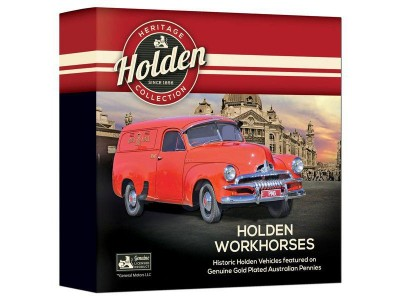 Downies Holden Workhorses Enamel Penny - 9 Piece Collectors Coin Set