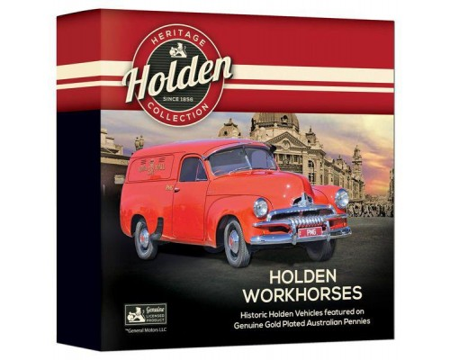 Holden Workhorses Enamel Penny - 9 Piece Collectors Coin Set