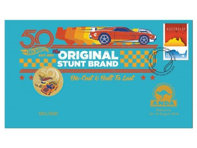 Australia Post Hotwheels - 2018 $1 Stamp and Coin Cover