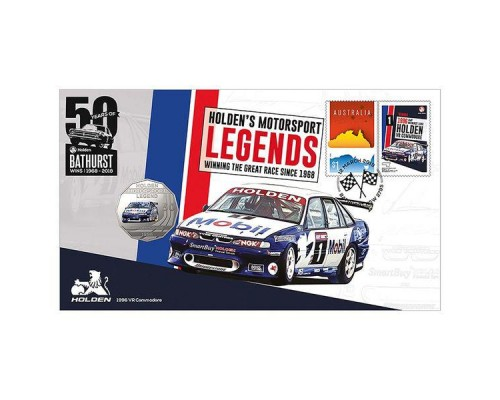 Australia Post Holden VR Commodore - 2018 50c Stamp and Coin Cover - PNC