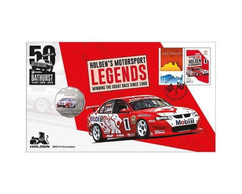 Australia Post Holden VX Commodore - 2018 50c Stamp and Coin Cover - PNC