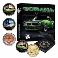 Holden Torana 9 Piece GOLD Plated Enamel Collectors Coin Set