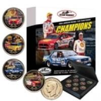 DJR Team Penske Gold Plated Enamel 10 Piece Collectors Penny Set