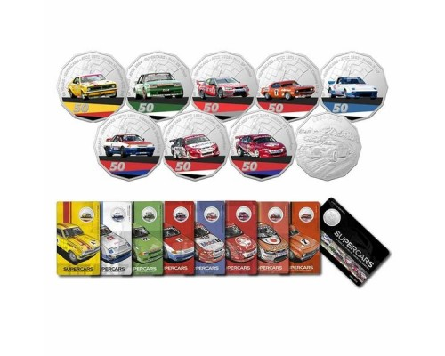 Royal Australian Mint 2020 50c 9-Piece Coin Set - 60 Years of Supercars