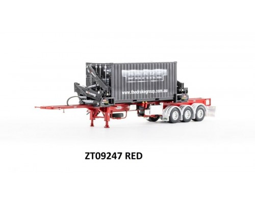 Drake Collectibles 1:50 Trailer BoxLoader with Container - Red