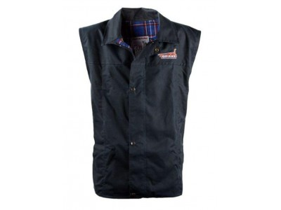 Drake Collectibles Claybourn Mens Oilskin Vest Black – Tartan Lined