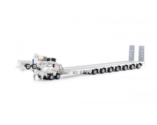 1:50 Scale Drake 7x8 Steerable Trailer & 2x8 Dolly - White