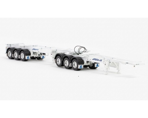 Drake Collectibles 1:50 Freighter Skel B-Double Trailer Set - White