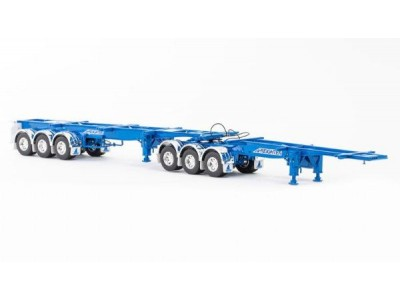 1:50 Scale Freighter Skel B-Double Trailer Set - Blue (McAleese)