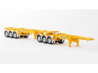 1:50 Scale Freighter Skel B-Double Trailer Set - Yellow