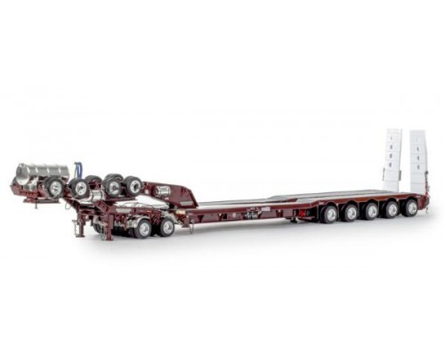 Drake Collectibles 1:50 Drake 5x8 Drop Deck Trailer with 2x8 Dolly - Burgundy