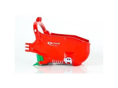 1:50 Scale Esco 155 Cubic Yard Profill Dragline Bucket - Red