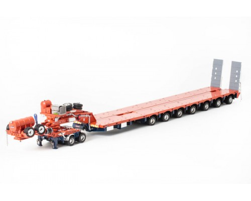 Drake Collectibles 1:50 Drake 7x8 Steerable Trailer & 2x8 Dolly - Drake Orange