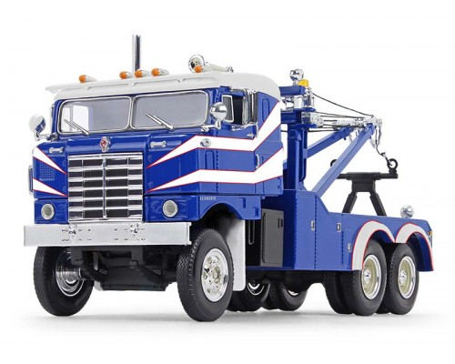 First Gear 1:34 1953 Kenworth Bullnose Heavy-Duty Wrecker - Blue and White