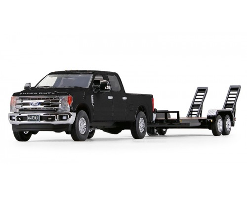 First Gear 1:50 Ford Super Duty F-250 Crew Cab Pickup and Trailer - Black