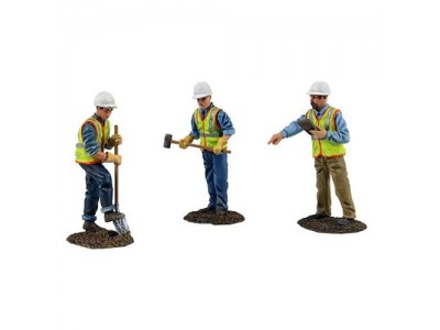 1:50 Scale Construction Worker Figurine Set - Road Crew
