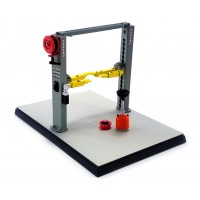 GMP 1:43 Scale Two Post Lift Workshop Hoist - Grey