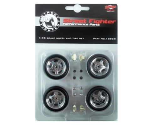 GMP 1:18 Mag Wheels and Tyres Set - Street Fighter Style