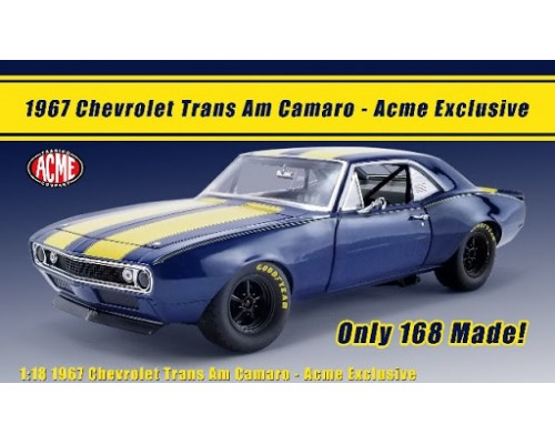 GMP 1:18 1967 Trans Am Camaro - Blue with Yellow Stripes