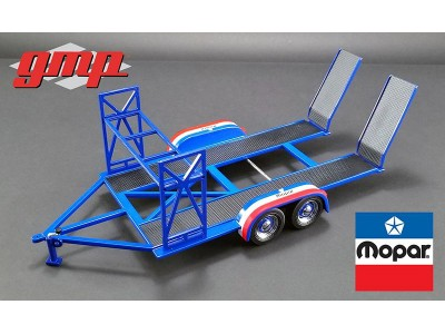 1:18 Scale Tandem Car Trailer - Mopar Edition