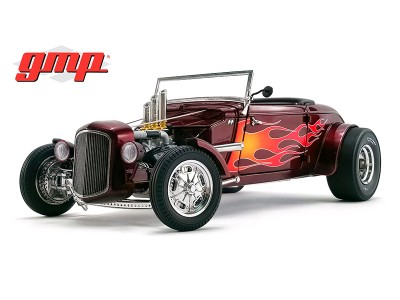 GMP 1:18 1934 Hot Rod Roadster - Brandywine Metallic / Flames