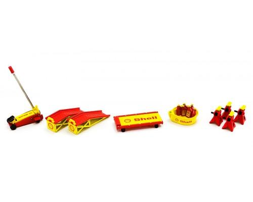 GMP 1:18 Garage Workshop Set - Shell Oil - Shop Tool Set #2