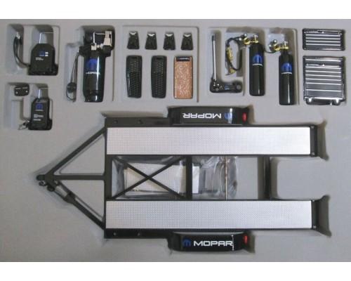 1:18 Scale Mopar Racing Tandem Trailer & Tool Set