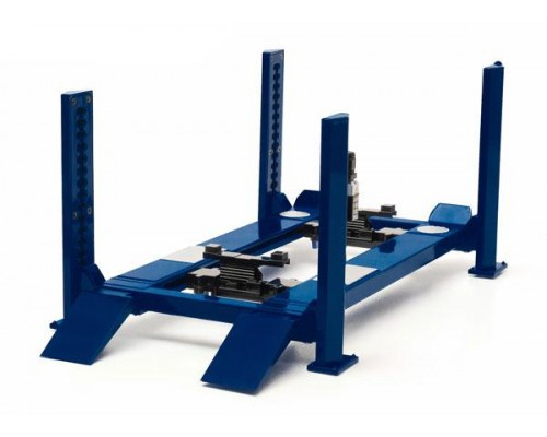 1:18 Scale Workshop Hoist - 4 Post - Blue