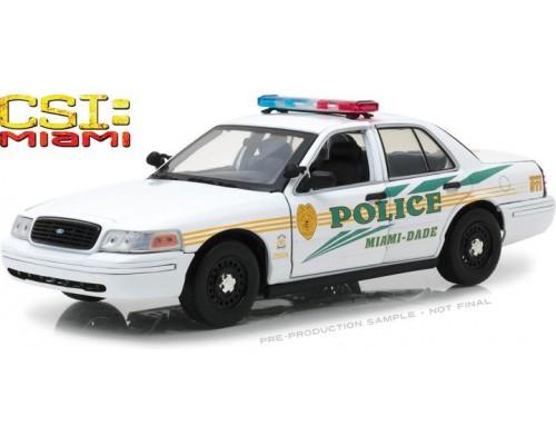 1:18 Scale CSI: Miami Ford Crown Victoria Police Interceptor