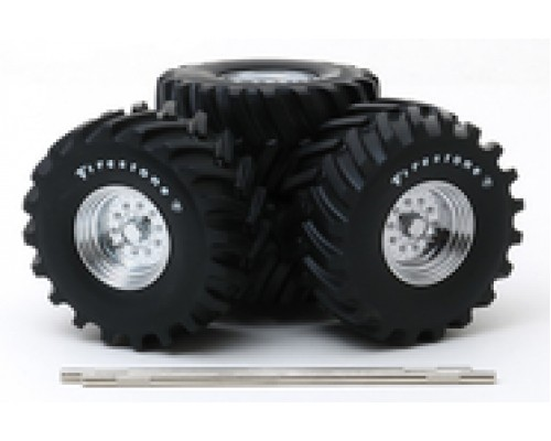"""1:18 Scale Monster Truck - 48"""" Wheel and Tire Set"""